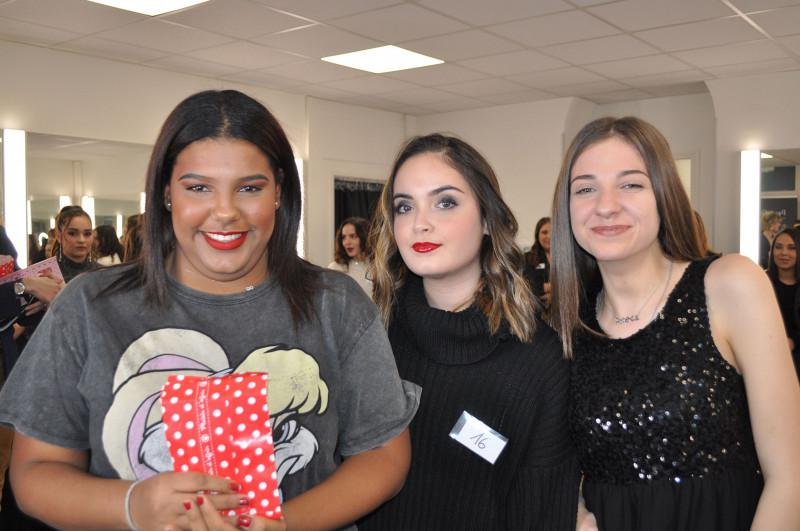 Nelly Assaf et Zelie Lespagnol concours Make-Up Noël